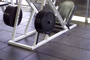 Rubber Gym Matting - Square Tiles